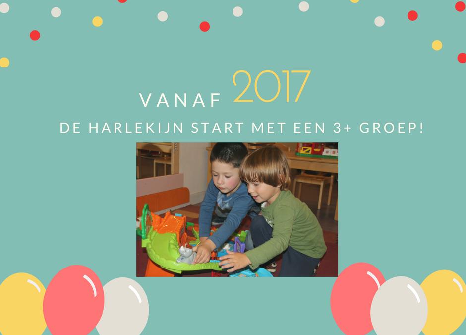 Vanaf 2017: De Harlekijn start met een  3+ groep!