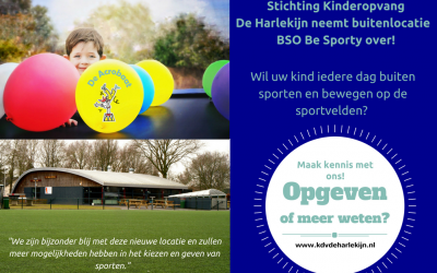 Overname BSO Be Sporty door De Harlekijn